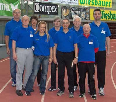 Die Passauer Kampfrichter (v. re.) Josef Gierl, Josef Wimmer, Peter Fahrnholz, Werner Brysch, Elisabeth Fahrnholz, Karin Kapfer, Claudia Haberland, Siegfried Kapfer und Rudolf Haberland