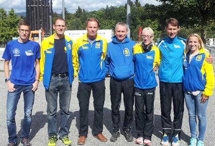 Die erfolgreichen LG-Teilnehmer (v. re.): Sabrina Prager, Wolfgang Brandl, Kathrin Bründl, Georg Eibl, Gerhard Bauer, Manfred Ammerl und Marcel Pangerl