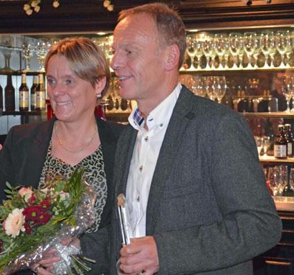 """Erfolgstrainer Günter Zahn mit Ehefrau Gabi bei der Ehrung zum """"Trainer des Jahres"""""""