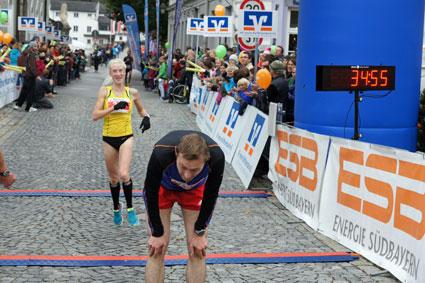 Hauptlauf über 8,8 km lief Kathrin Bründl, heuer bereits Bayerische 10-km-Mannschaftsmeisterin, von Beginn an im Spitzenfeld und erkämpfte sich nach 34:50,1 Minuten den Sieg in der Frauen-Gesamtwertung