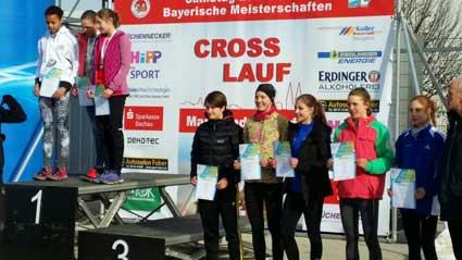 Siegerehrung für Lena Absmeier (4. v.li.)